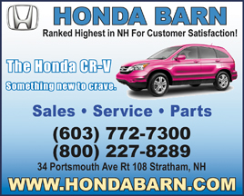 Honda Barn 34 Portsmouth Ave, Rt 108, Stratham, NH, (603) 772 7300,  Www.hondabarn.com. Seacoasts Largest Import Auto Dealer Is Dedicated To  Building Lasting ...